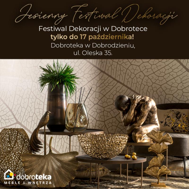 Jesienny Festiwal Dekoracji w galerii wnętrz Dobroteka, salon firmowy Halupczok Dobrodzień