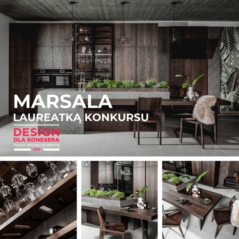 Zwycięstwo kolekcji MARSALA w konkursie DESIGN DLA KONESERA 2019